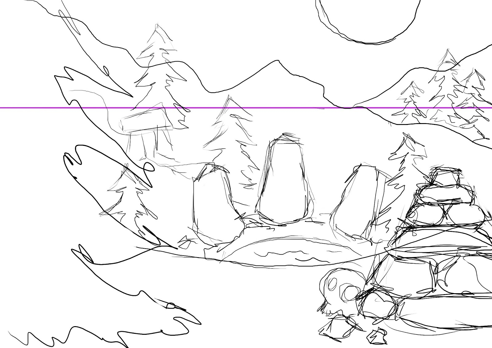 1600x1131 Drawing For Games 2 Environment Concept Art Process Drawing