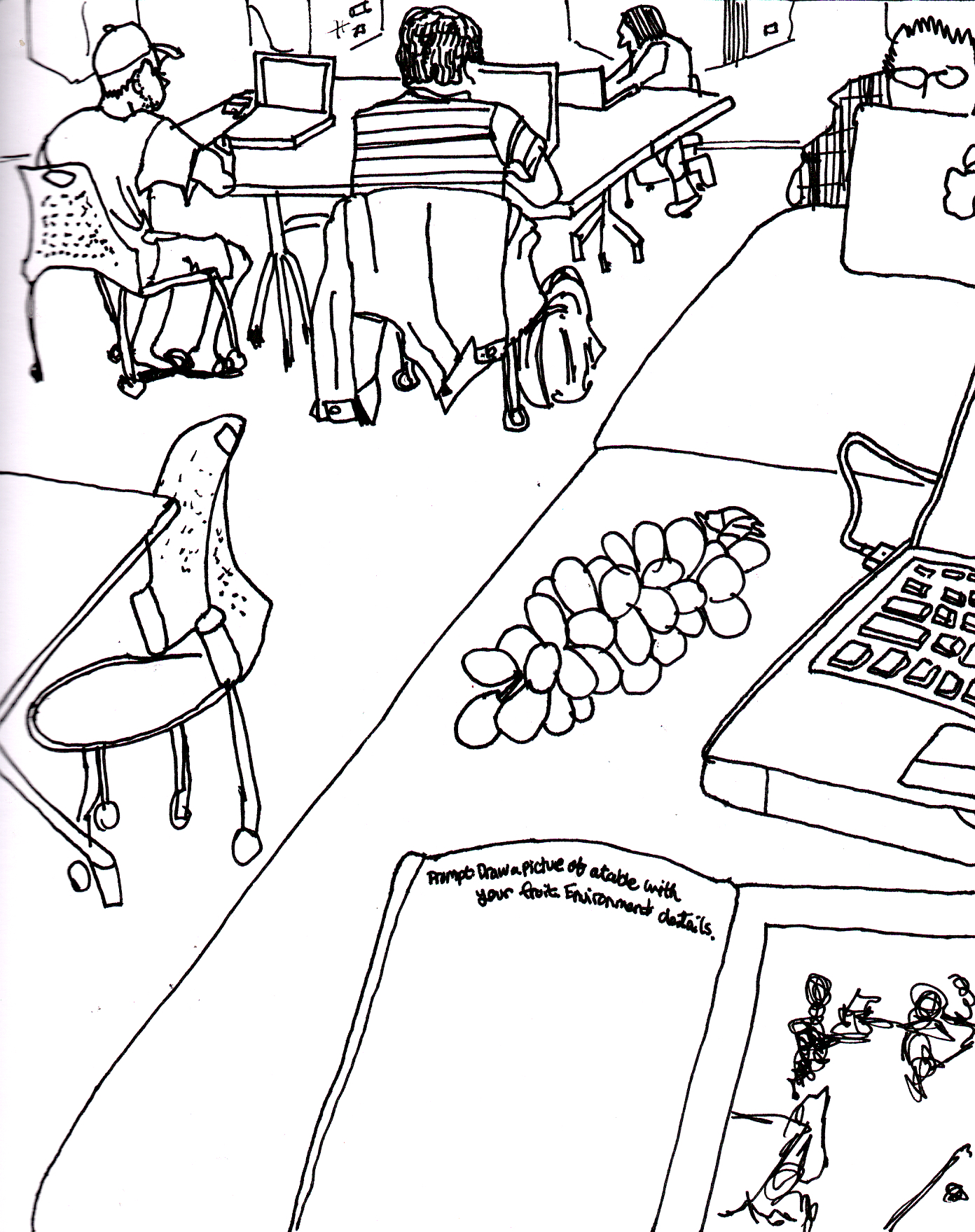 1392x1760 include your fruit in a drawing of a table, include environmental