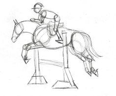 236x194 Hunter Jumper Eventing Horse Equine Grand Prix Dressage Drawing