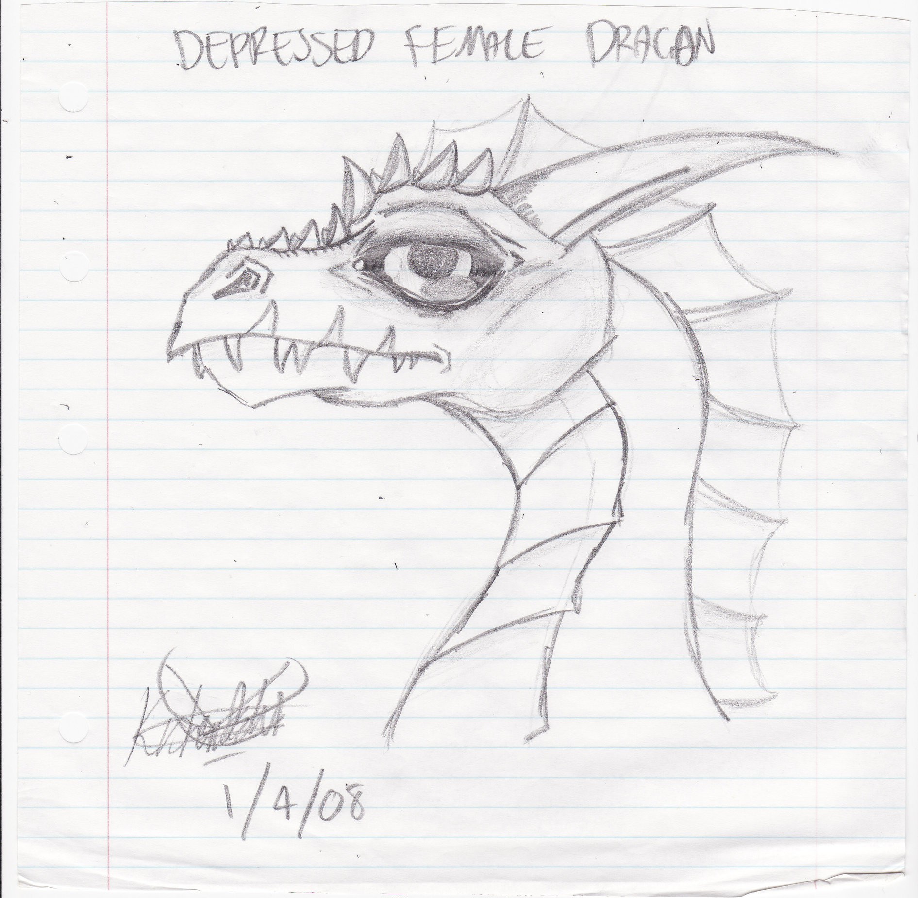 1891x1849 Depressed Female Dragon By Execution Er
