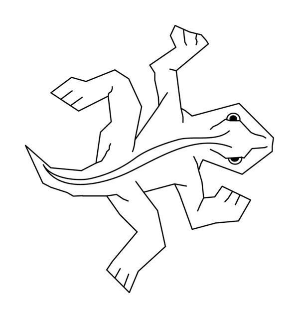 600x638 2008 04 18] Mc Escher Lizard Vector Art
