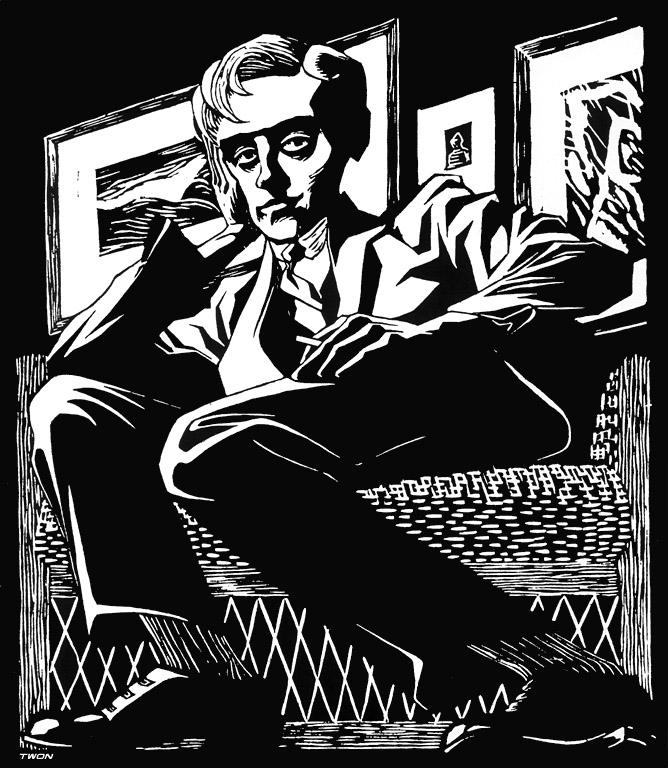 668x768 Self Portrait In A Chair, 1920