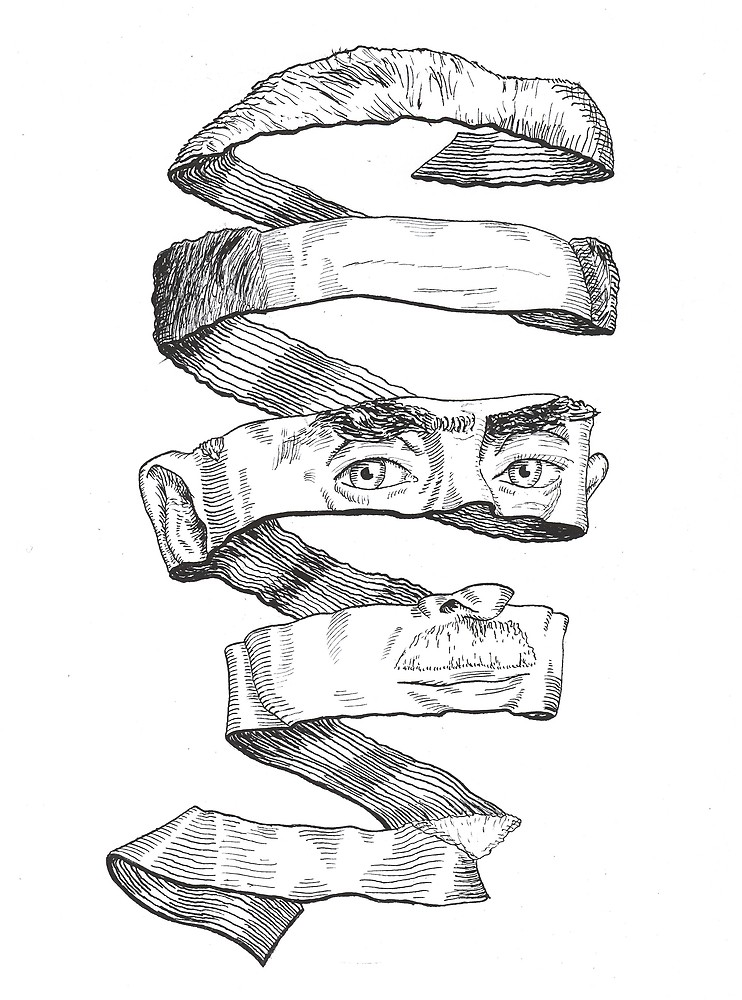 742x1000 The Portrait Of M. C. Escher, In His Own Style By Norbert Kiss