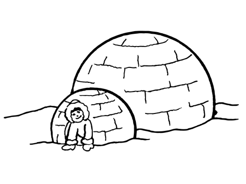 480x360 Inuit Igloo Coloring Page Free Printable Coloring Pages