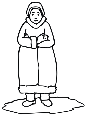 360x480 Inuit Woman Coloring Page Free Printable Coloring Pages