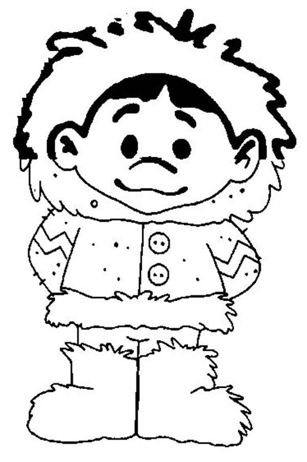 600x902 Picture Of Eskimo Boy Coloring Page Color Luna