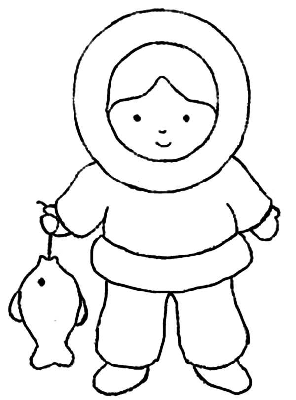 600x811 Simplistic Eskimo Coloring Page Pages By Emma Mulierchile