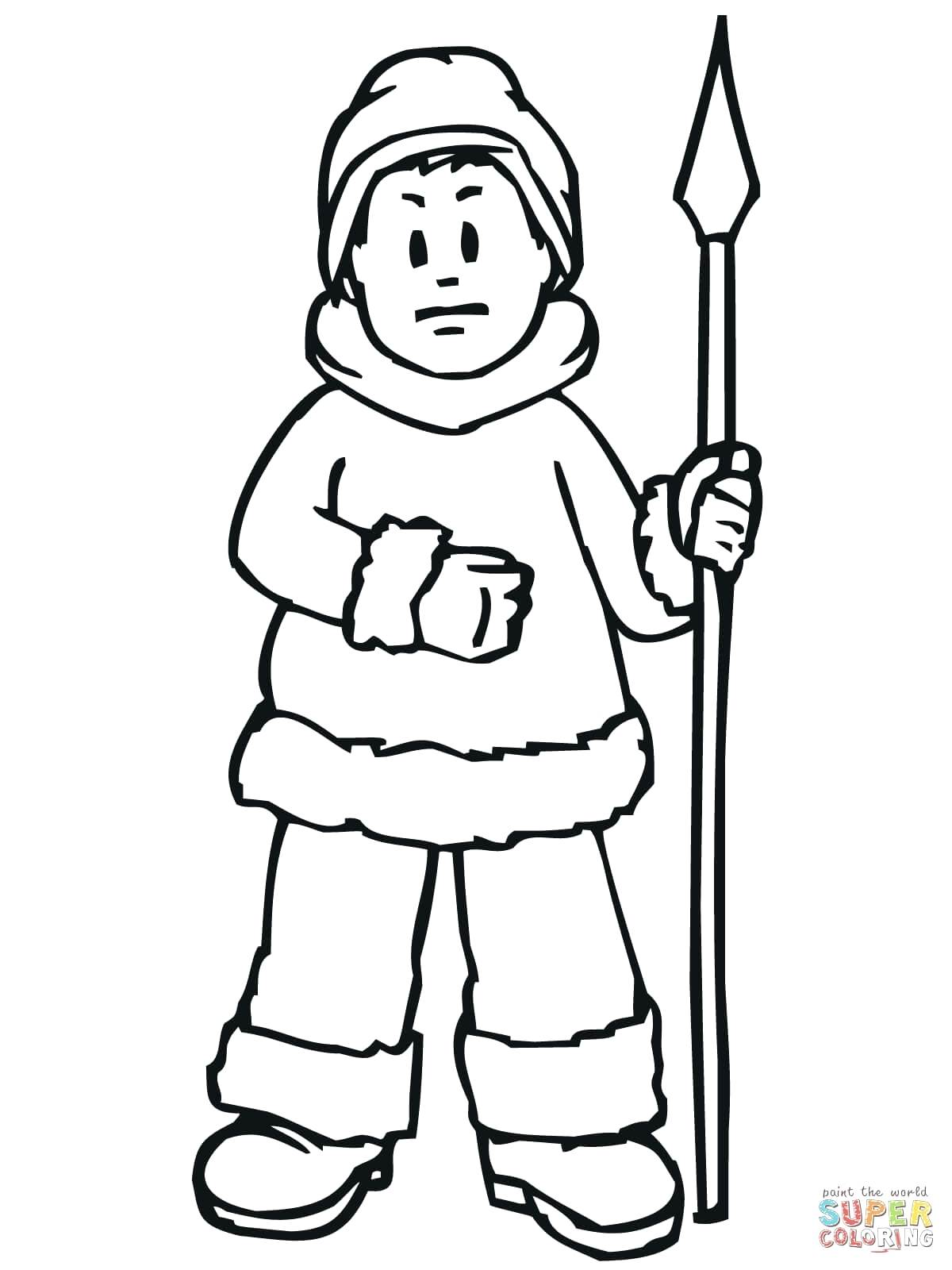 1200x1600 Coloring Eskimo Coloring Page