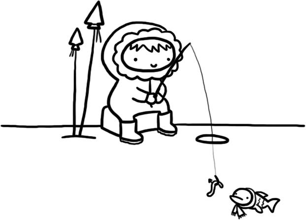 621x447 Kat Doodles E Is For Eskimo!