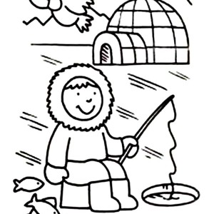 300x300 Best Photos Of Eskimo Igloo House Coloring Page