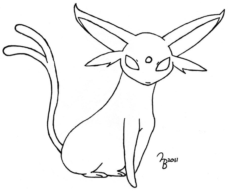 Asombroso Pokemon Para Colorear Espeon Imágenes - Ideas Para ...