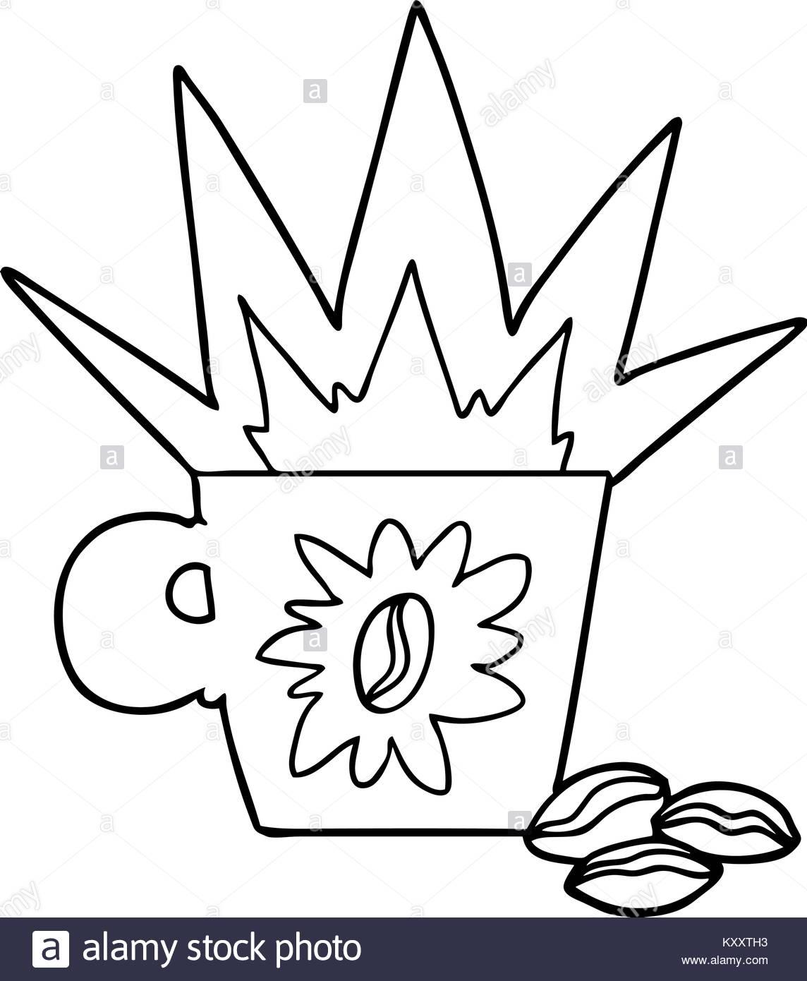 1144x1390 Freehand Drawn Cartoon Espresso Stock Photos Amp Freehand Drawn
