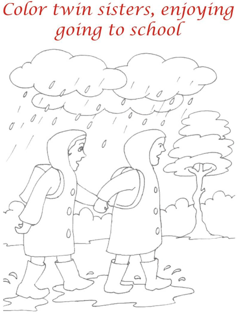 800x1057 Rainy Season Drawing For Kids Rainy Season Drawing For Kids Kids