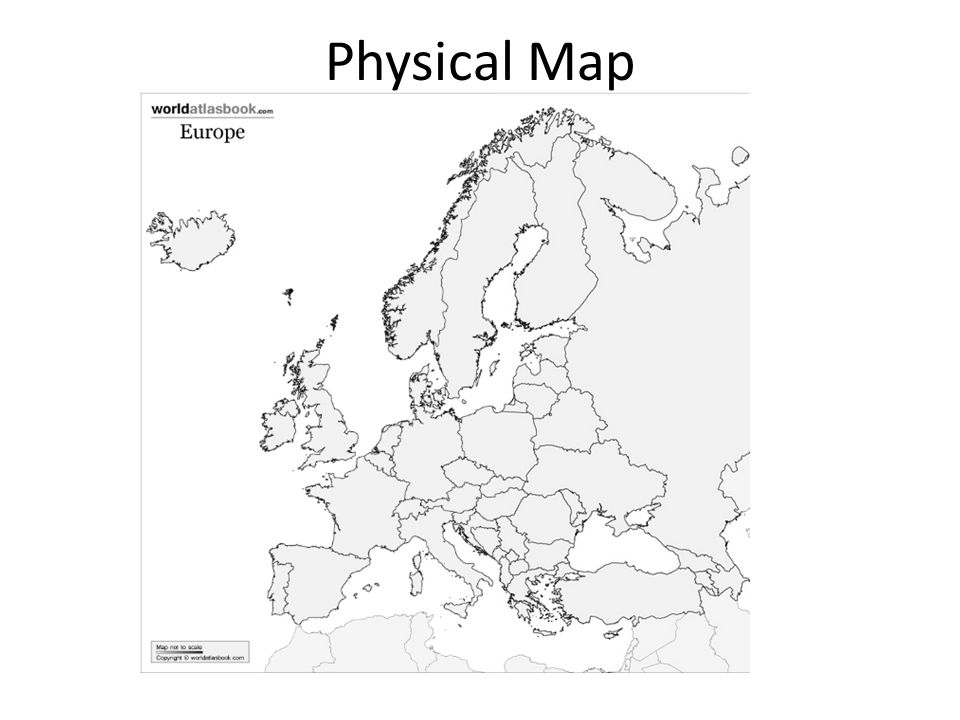 960x720 Geography Of Europe. Physical Map Political Map.