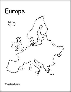 304x392 Map Europe (Outline) Abcteach