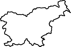 300x199 Map Of Slovenia (In Europe) Clip Art