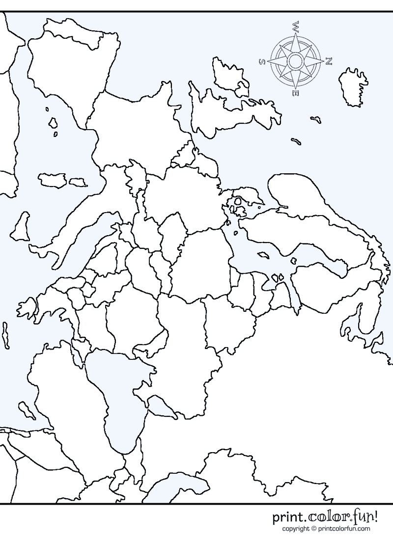 800x1100 Map Of Europe Coloring Page