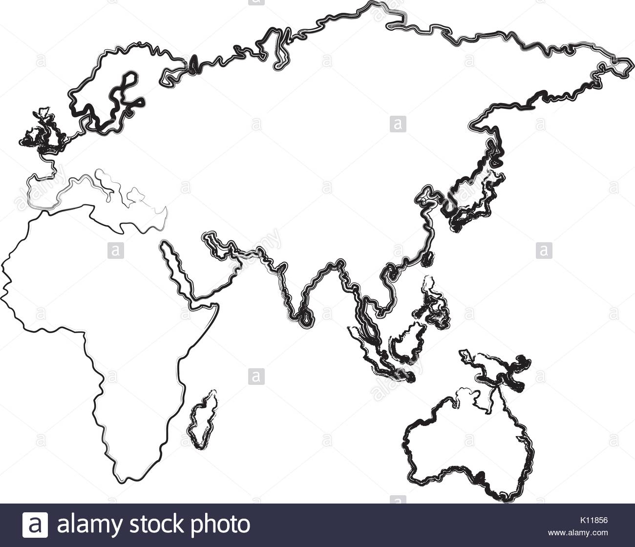 1300x1120 Map Of Europe Africa And Asia Country Stock Vector Art