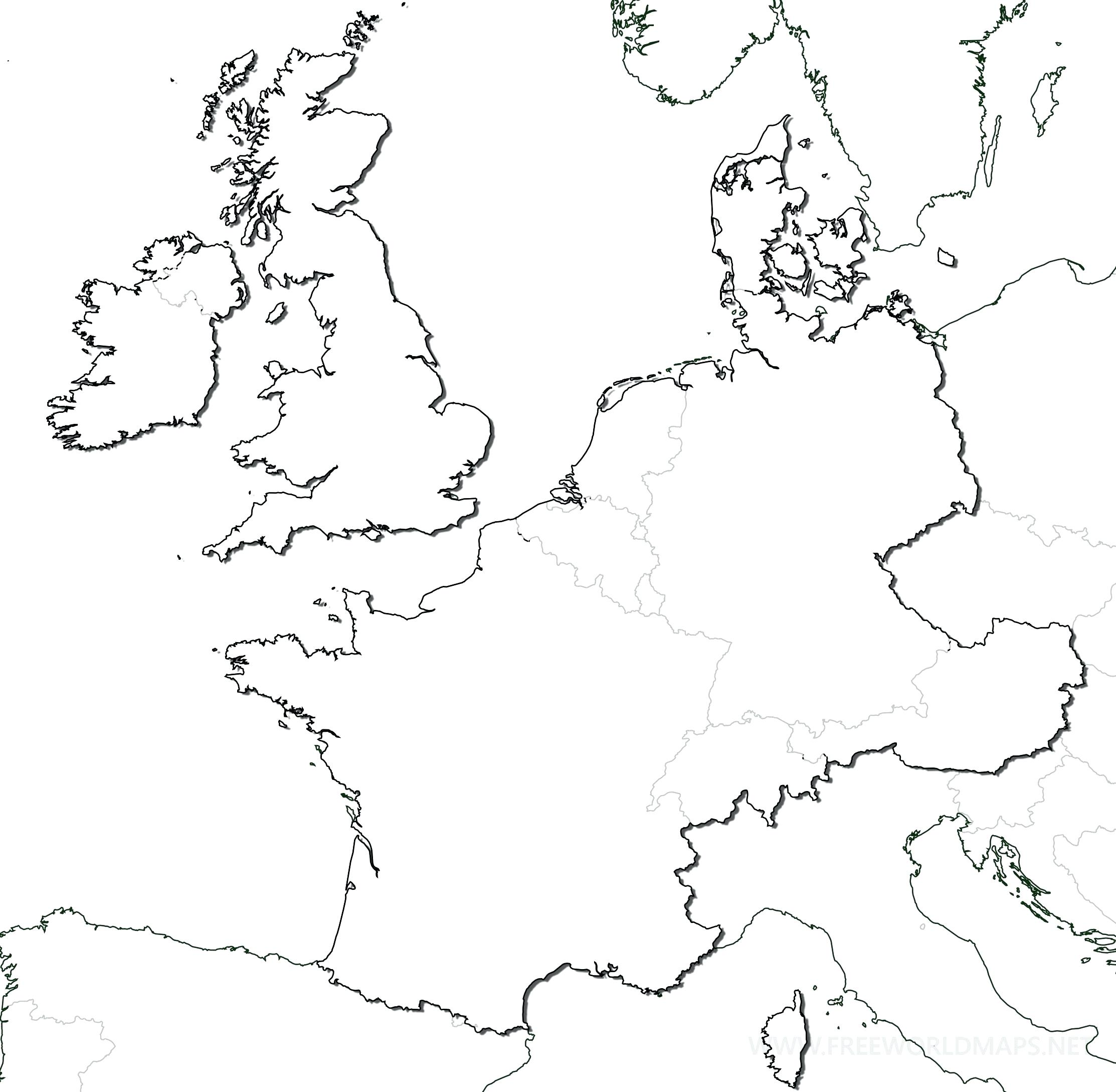 2226x2177 Printable Blank Europe Map Outline Printable On Of Western. Blank
