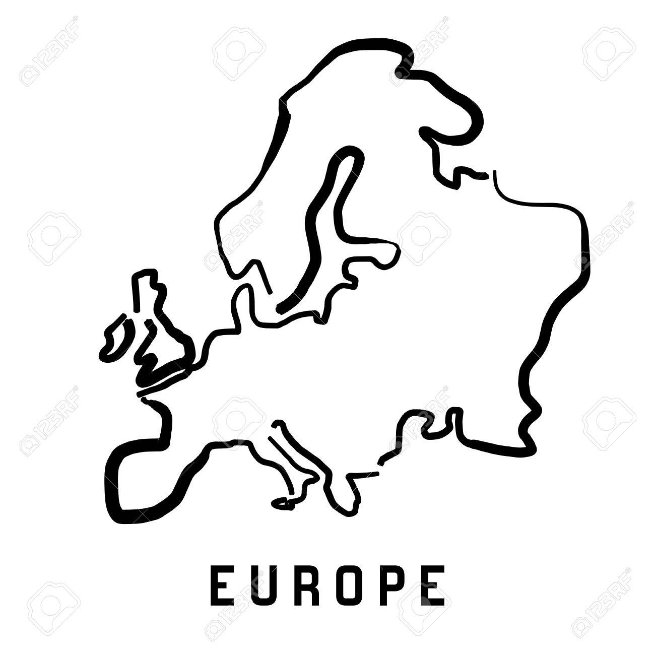 1300x1300 Europe Simple Map Outline