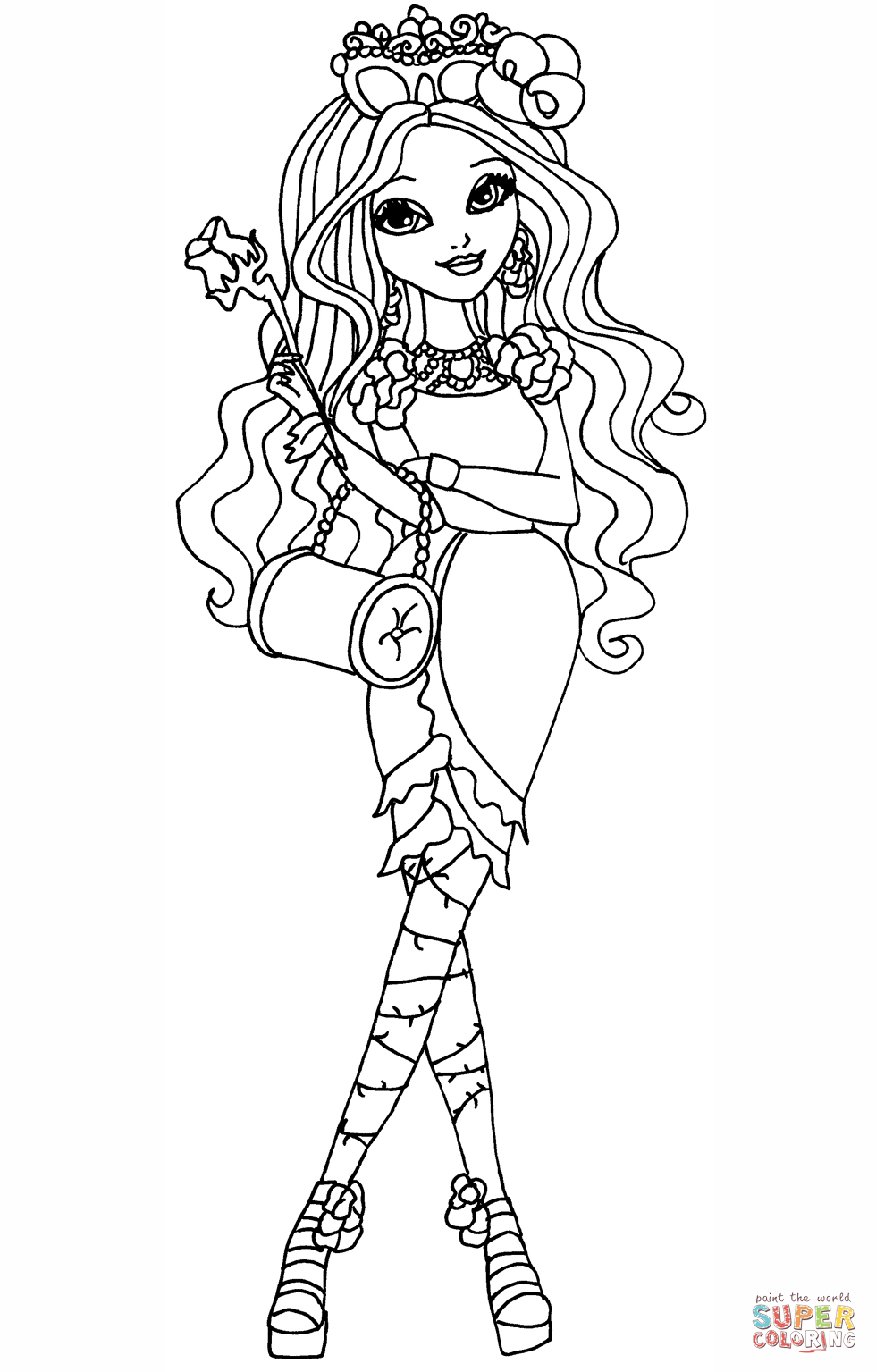 980x1535 Ever After High Briar Beauty Coloring Page Free Printable