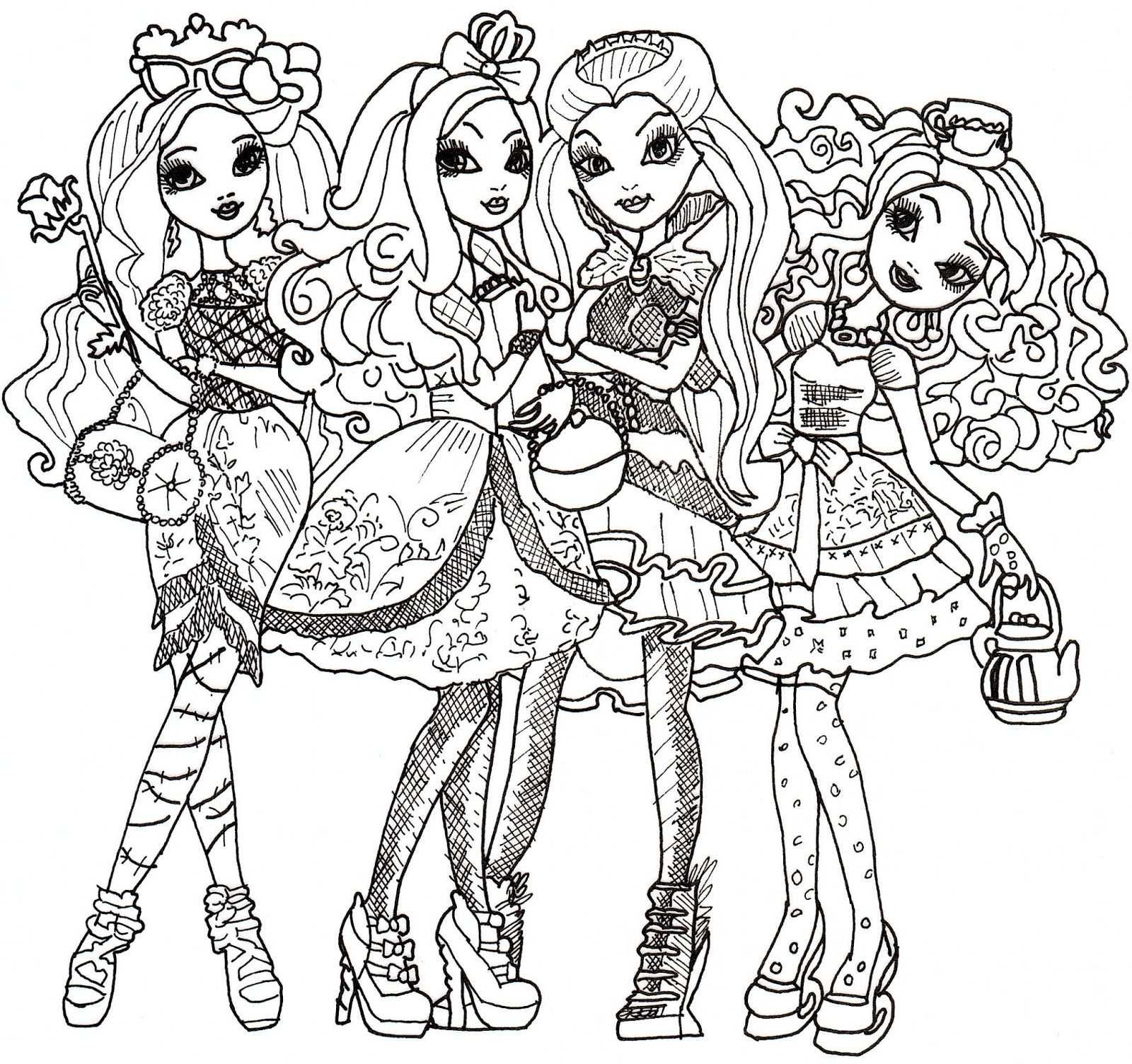 1600x1504 Ever After High Coloring Pages Freecolorngpages.co