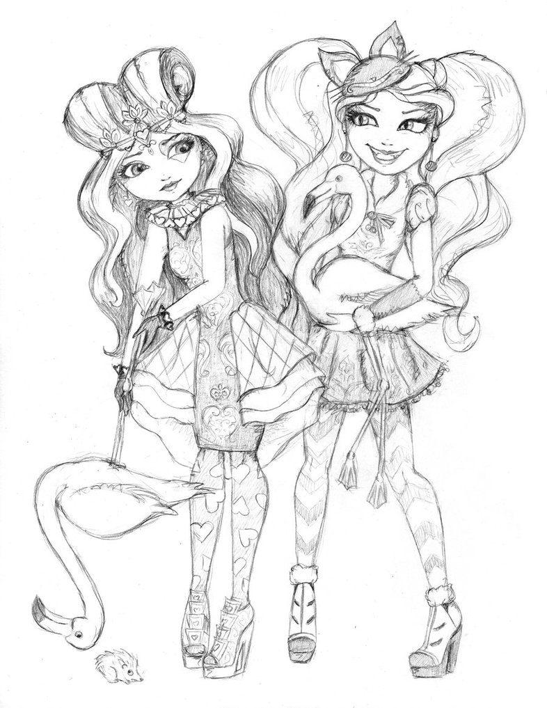 786x1017 Ever After High Lizzie And Kitty Play Croquet By Whiteheather