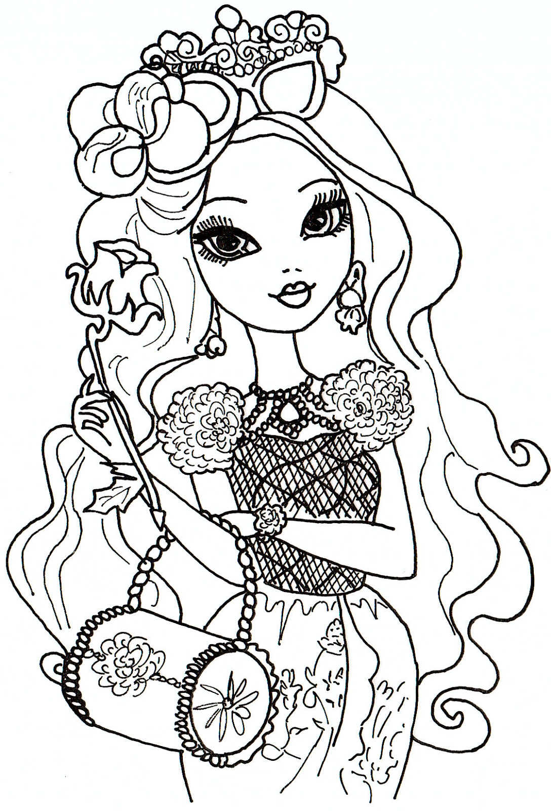 1088x1600 Ever After High Raven Queen Coloring Pages