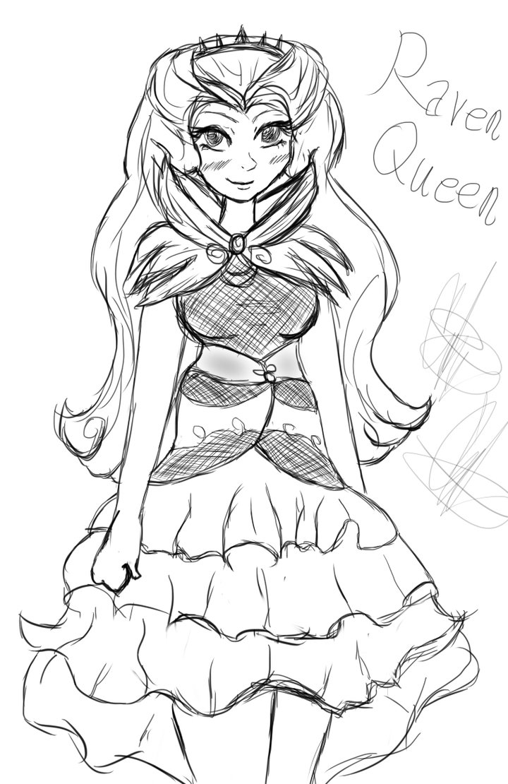720x1110 Ever After High Raven Queen Doodle By Coco Apple
