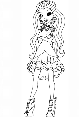 323x480 Ever After High Raven Queen Coloring Page Free Printable