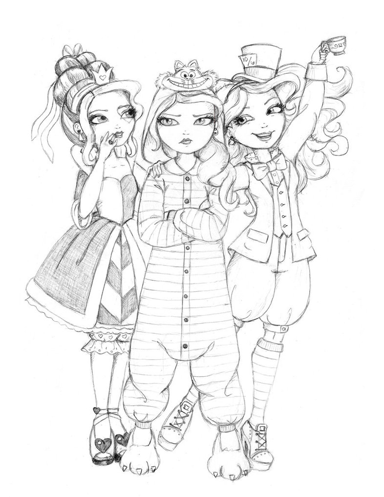 786x1017 Ever After High Wonderland Girls Go Disney By Whiteheather