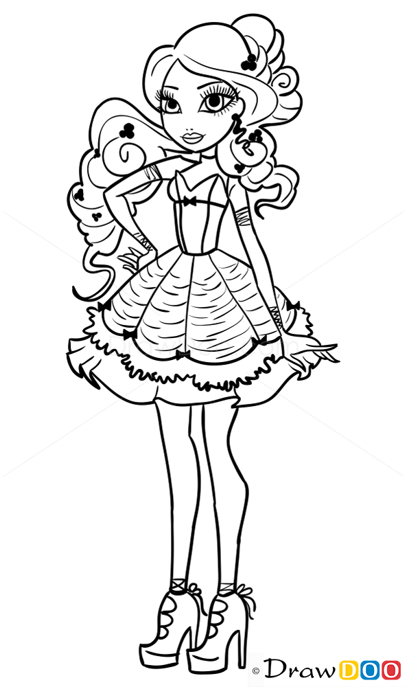 593x1000 How To Draw Bianca Bella, Ever After Higt