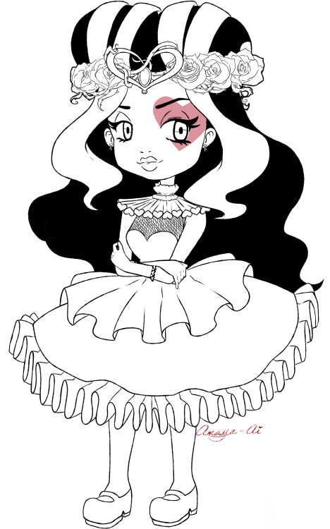 468x750 Inside My Head, Wip Of Lizzie Hearts From Ever After High. Wanted