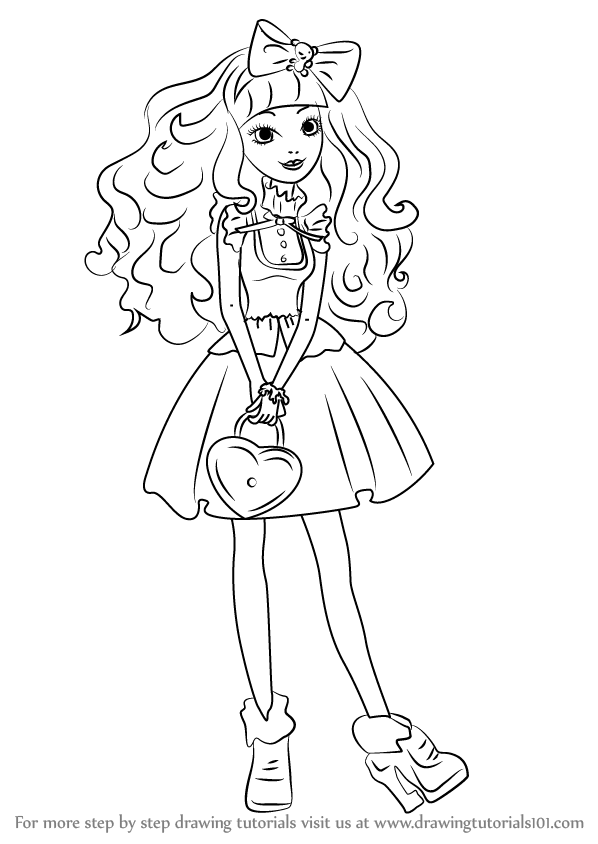 598x844 Learn How To Draw Blondie Lockes From Ever After High (Ever After