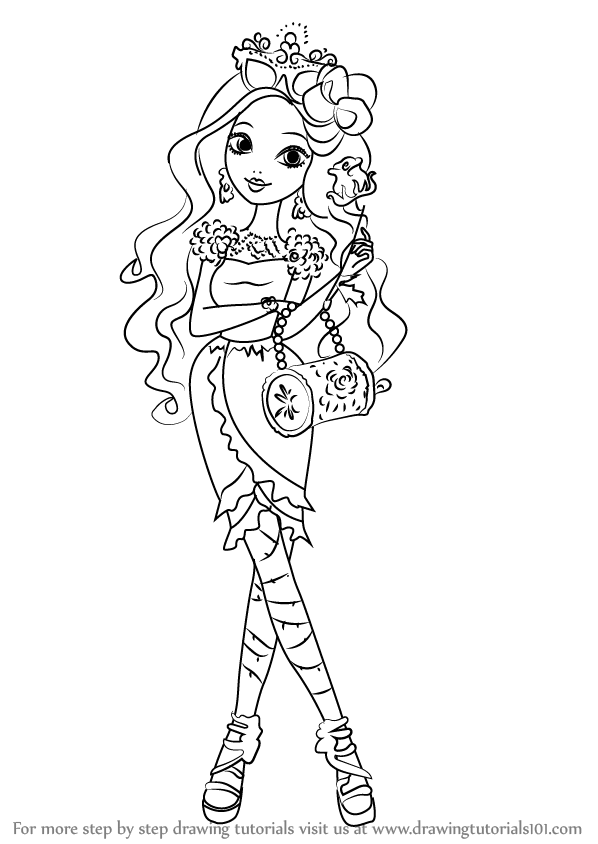 598x844 Learn How To Draw Briar Beauty From Ever After High (Ever After