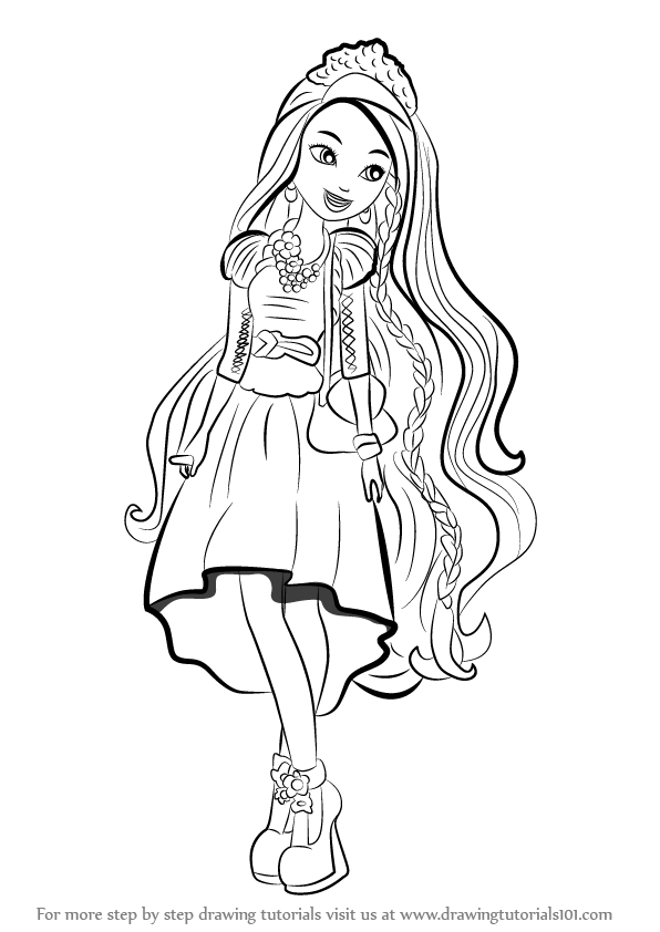 596x842 Learn How To Draw Holly O'Hair From Ever After High (Ever After