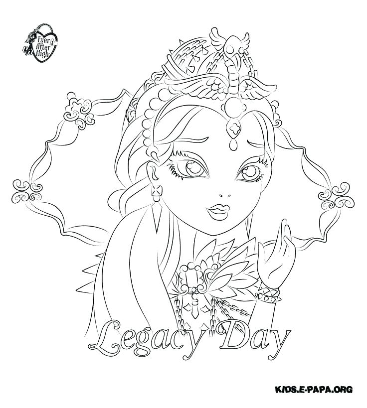 736x819 Monster High Coloring Pages Pdf As Ever After High Coloring Pages