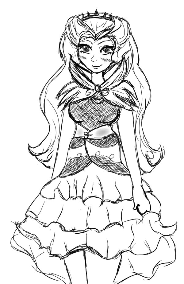 600x925 Drawing Raven Queen Ever After High Coloring Pages