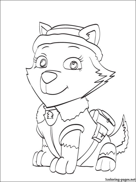560x750 Everest Paw Patrol Coloring Page Coloring Pages Coloring Pages