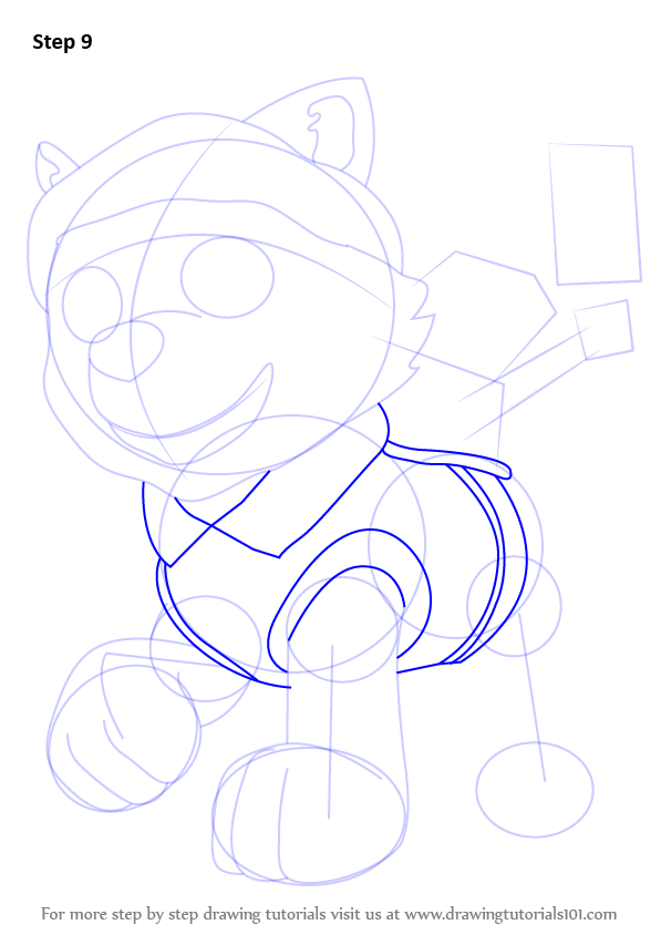 597x844 Learn How To Draw Everest From Paw Patrol (Paw Patrol) Step By