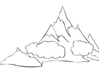 377x262 Man Climbing The Mountain Coloring Games