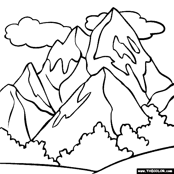 560x560 Mount Everest Coloring Page