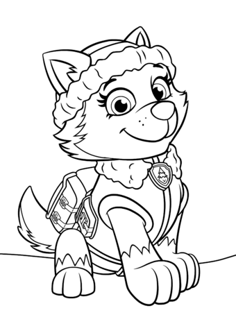 340x480 Paw Patrol Everest Coloring Page Free Printable Coloring Pages