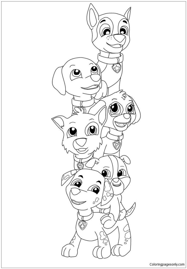 765x1101 Paw Patrol Pup Everest Coloring Page