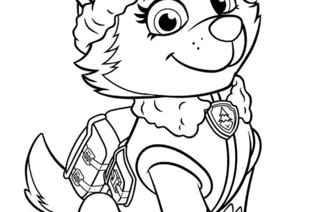 469x304 Paw Patrol Coloring Pages Everest Just Colorings