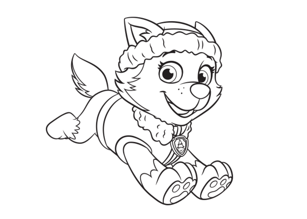 1020x728 Everest Coloring Page Paw Patrol Colorbook Pages