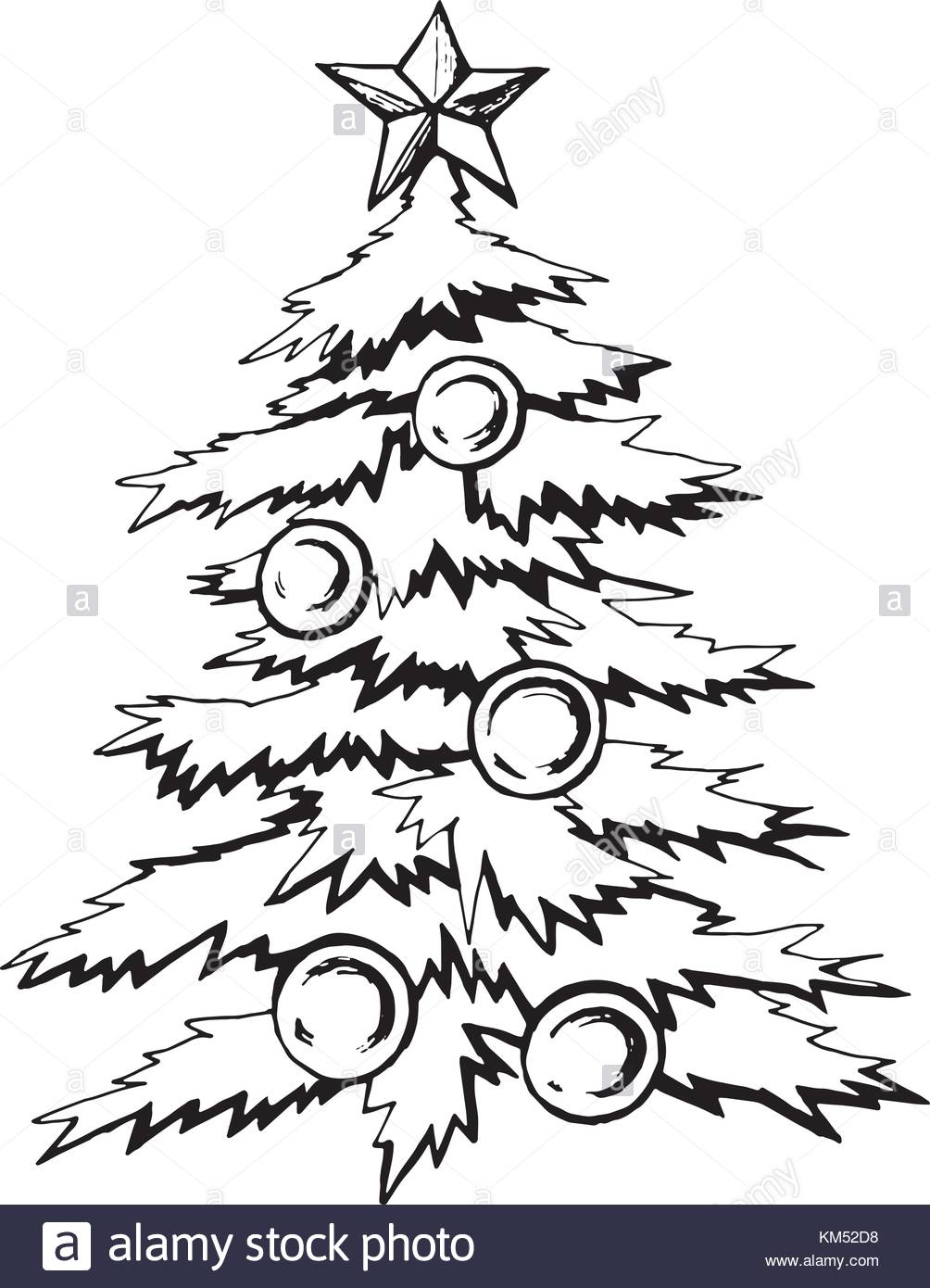 1004x1390 Christmas Tree Balls Stock Vector Images