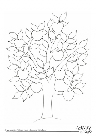 320x452 Tree Colouring Pages