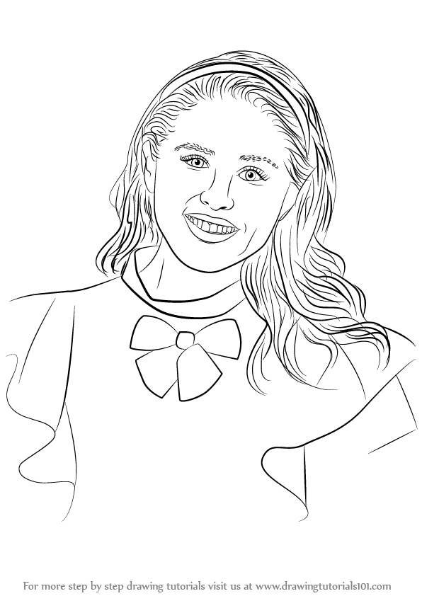 596x842 Learn How To Draw Jane From Descendants Step By