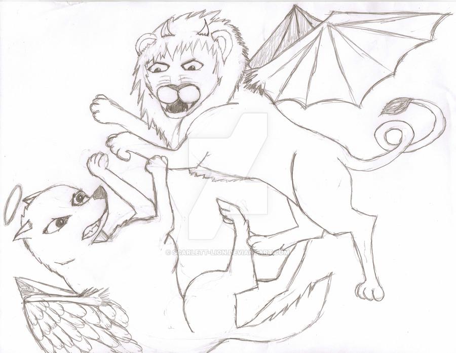 900x697 Evil Angel By Scarlett Lion